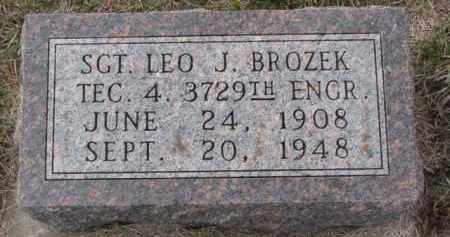 BROZEK, LEO J. - Madison County, Nebraska | LEO J. BROZEK - Nebraska Gravestone Photos