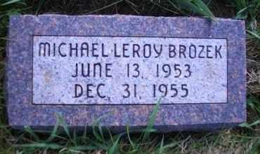 BROZEK, MICHAEL LEROY - Madison County, Nebraska   MICHAEL LEROY BROZEK - Nebraska Gravestone Photos