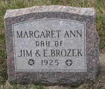 BROZEK, MARGARET ANN - Madison County, Nebraska | MARGARET ANN BROZEK - Nebraska Gravestone Photos