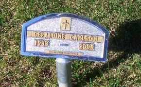 GANSER CARLSON, GERALDINE - Madison County, Nebraska | GERALDINE GANSER CARLSON - Nebraska Gravestone Photos