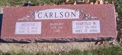 CARLSON, HAROLD W - Madison County, Nebraska | HAROLD W CARLSON - Nebraska Gravestone Photos