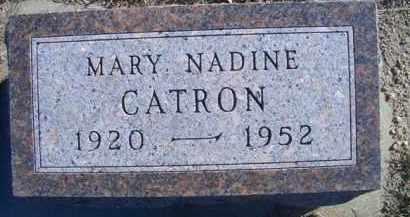 CATRON, MARY NADINE - Madison County, Nebraska | MARY NADINE CATRON - Nebraska Gravestone Photos