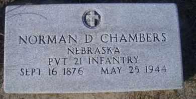 CHAMBERS, NORMAN D - Madison County, Nebraska | NORMAN D CHAMBERS - Nebraska Gravestone Photos