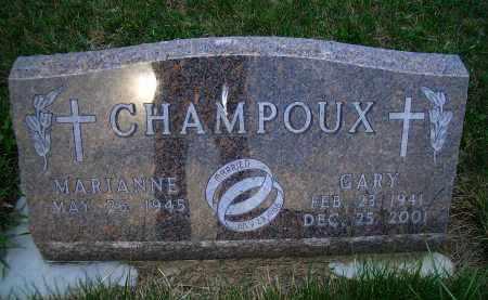 CHAMPOUX, GARY - Madison County, Nebraska | GARY CHAMPOUX - Nebraska Gravestone Photos
