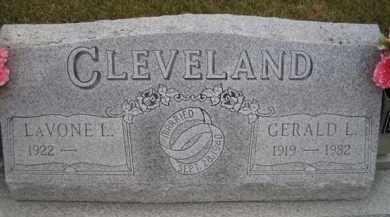CLEVELAND, GERALD L - Madison County, Nebraska | GERALD L CLEVELAND - Nebraska Gravestone Photos