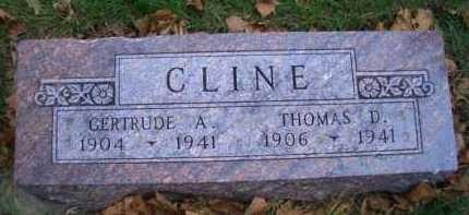 CLINE, GERTRUDE A - Madison County, Nebraska   GERTRUDE A CLINE - Nebraska Gravestone Photos