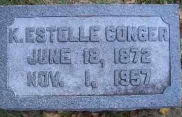 CONGER, K ESTELLE - Madison County, Nebraska | K ESTELLE CONGER - Nebraska Gravestone Photos