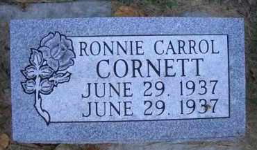 CORNETT, RONNIE CARROL - Madison County, Nebraska | RONNIE CARROL CORNETT - Nebraska Gravestone Photos