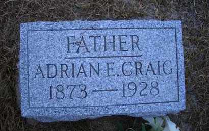 CRAIG, ADRIAN E. - Madison County, Nebraska   ADRIAN E. CRAIG - Nebraska Gravestone Photos