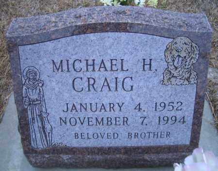 CRAIG, MICHAEL H. - Madison County, Nebraska   MICHAEL H. CRAIG - Nebraska Gravestone Photos