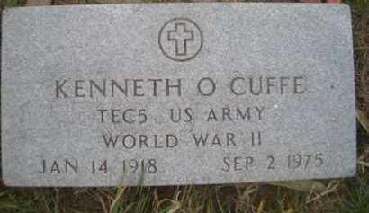 CUFFE, KENNETH O (MILITARY MARKER) - Madison County, Nebraska | KENNETH O (MILITARY MARKER) CUFFE - Nebraska Gravestone Photos