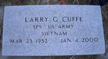CUFFE, LARRY G - Madison County, Nebraska | LARRY G CUFFE - Nebraska Gravestone Photos