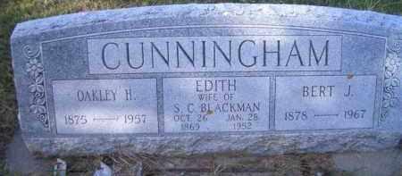 CUNNINGHAM, BERT J - Madison County, Nebraska   BERT J CUNNINGHAM - Nebraska Gravestone Photos