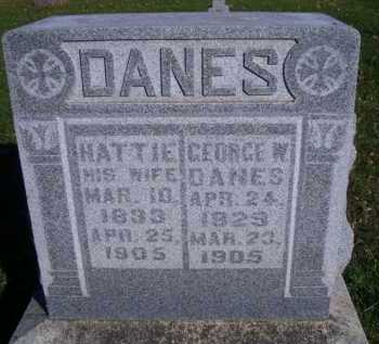 DANES, HATTIE - Madison County, Nebraska | HATTIE DANES - Nebraska Gravestone Photos