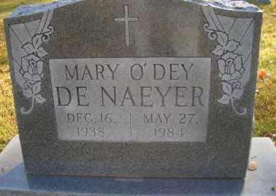 O'DEY DE NAEYER, MARY - Madison County, Nebraska | MARY O'DEY DE NAEYER - Nebraska Gravestone Photos