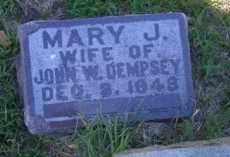 PARCEL DEMPSEY, MARY J - Madison County, Nebraska   MARY J PARCEL DEMPSEY - Nebraska Gravestone Photos