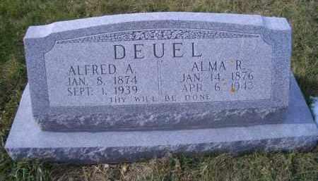 DEUEL, ALMA R - Madison County, Nebraska   ALMA R DEUEL - Nebraska Gravestone Photos