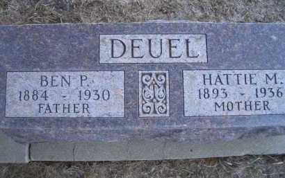 DEUEL, BEN P. - Madison County, Nebraska | BEN P. DEUEL - Nebraska Gravestone Photos