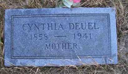 DEUEL, CYNTHIA - Madison County, Nebraska | CYNTHIA DEUEL - Nebraska Gravestone Photos