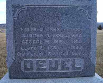 DEUEL, WINORA D. - Madison County, Nebraska | WINORA D. DEUEL - Nebraska Gravestone Photos
