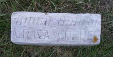 DEUEL, INFANT SON - Madison County, Nebraska | INFANT SON DEUEL - Nebraska Gravestone Photos