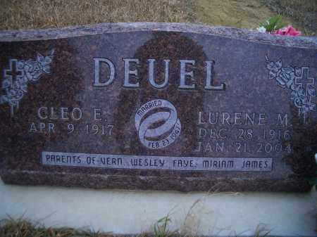 DEUEL, LURENE M. - Madison County, Nebraska | LURENE M. DEUEL - Nebraska Gravestone Photos