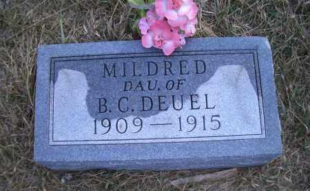 DEUEL, MILDRED - Madison County, Nebraska   MILDRED DEUEL - Nebraska Gravestone Photos