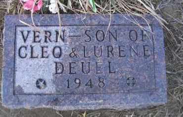 DEUEL, VERN - Madison County, Nebraska   VERN DEUEL - Nebraska Gravestone Photos