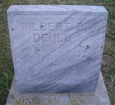 DEUEL, WILBER D - Madison County, Nebraska | WILBER D DEUEL - Nebraska Gravestone Photos