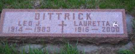 DITTRICK, LEO J. - Madison County, Nebraska | LEO J. DITTRICK - Nebraska Gravestone Photos