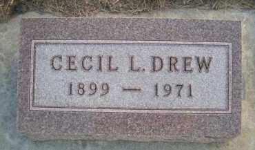 DREW, CECIL L - Madison County, Nebraska | CECIL L DREW - Nebraska Gravestone Photos