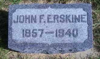 ERSKINE, JOHN F - Madison County, Nebraska | JOHN F ERSKINE - Nebraska Gravestone Photos