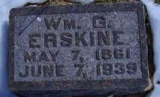 ERSKINE, WM G - Madison County, Nebraska | WM G ERSKINE - Nebraska Gravestone Photos