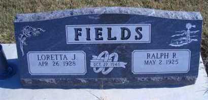 FIELDS, RALPH R - Madison County, Nebraska   RALPH R FIELDS - Nebraska Gravestone Photos
