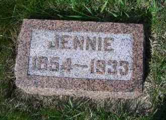 FLOOD, JENNIE - Madison County, Nebraska | JENNIE FLOOD - Nebraska Gravestone Photos