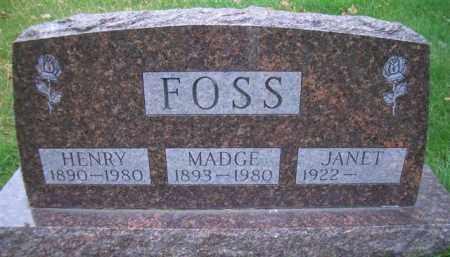 RADKE FOSS, MADGE - Madison County, Nebraska | MADGE RADKE FOSS - Nebraska Gravestone Photos
