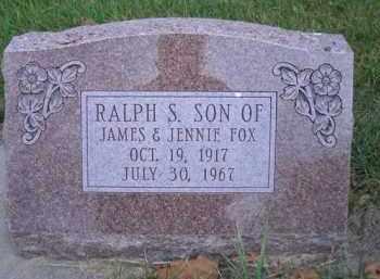 FOX, RALPH S - Madison County, Nebraska | RALPH S FOX - Nebraska Gravestone Photos
