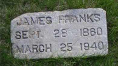 FRANKS, JAMES - Madison County, Nebraska | JAMES FRANKS - Nebraska Gravestone Photos