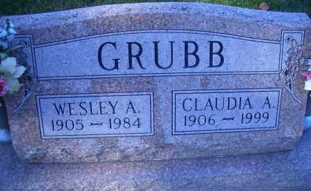 GRUBB, WESLEY A - Madison County, Nebraska   WESLEY A GRUBB - Nebraska Gravestone Photos