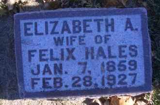 HALES, ELIZABETH A - Madison County, Nebraska | ELIZABETH A HALES - Nebraska Gravestone Photos