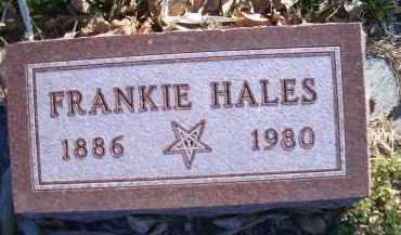 HALES, FRANKIE - Madison County, Nebraska | FRANKIE HALES - Nebraska Gravestone Photos