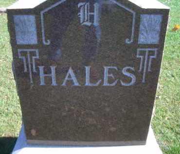 HALES, FAMILY MARKER - Madison County, Nebraska | FAMILY MARKER HALES - Nebraska Gravestone Photos