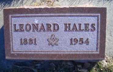 HALES, LEONARD - Madison County, Nebraska | LEONARD HALES - Nebraska Gravestone Photos