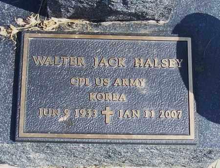 HALSEY, WALTER JACK (MILITARY) - Madison County, Nebraska | WALTER JACK (MILITARY) HALSEY - Nebraska Gravestone Photos
