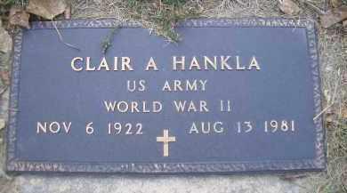 HANKLA, CLAIR A - Madison County, Nebraska | CLAIR A HANKLA - Nebraska Gravestone Photos