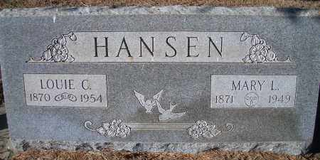 PETERSEN HANSEN, MARY L - Madison County, Nebraska | MARY L PETERSEN HANSEN - Nebraska Gravestone Photos