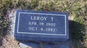 HANSEN, LEROY T. - Madison County, Nebraska | LEROY T. HANSEN - Nebraska Gravestone Photos