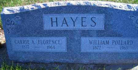 WESTFALL HAYES, CARRIE A (FLORENCE) - Madison County, Nebraska | CARRIE A (FLORENCE) WESTFALL HAYES - Nebraska Gravestone Photos