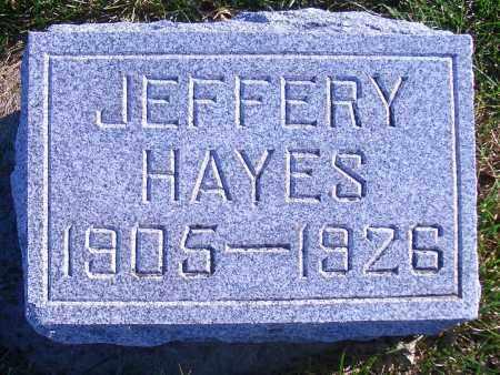 HAYES, JEFFERY - Madison County, Nebraska | JEFFERY HAYES - Nebraska Gravestone Photos