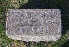 HOFMANN, WILHELMINE (FOOTSTOINE) - Madison County, Nebraska   WILHELMINE (FOOTSTOINE) HOFMANN - Nebraska Gravestone Photos